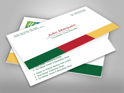 300gsm Business Card - Creased Fold Long - Without Lamination (Landscape)