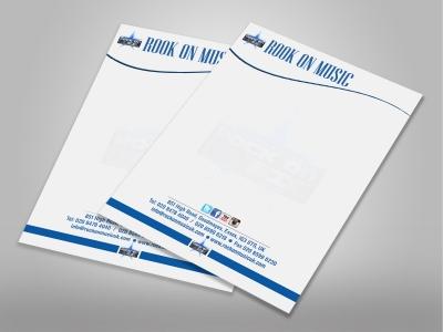 Letterheads 100gsm Paper Full Colour Printing